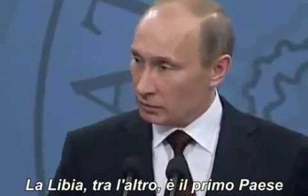Putin: Chi ha ucciso Gheddafi?